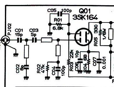 FT736 3SK164 Schaltplan